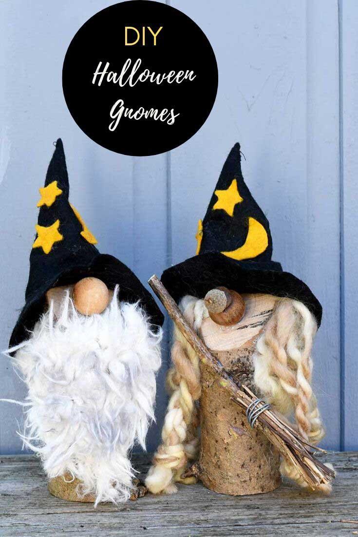 DIY Halloween gnomes