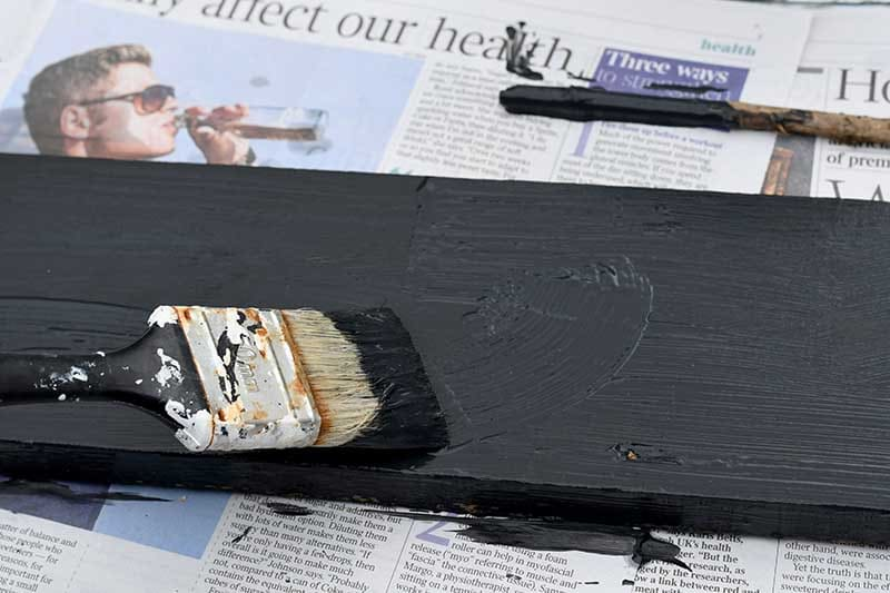 painting the wood black