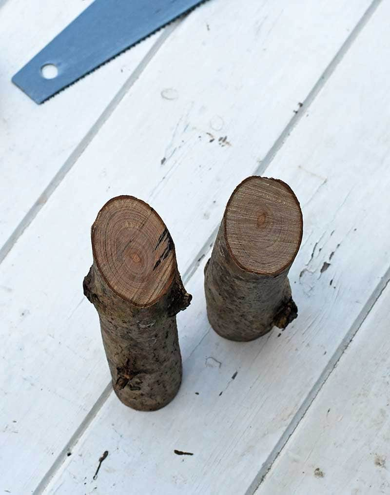 Wooden branch cut for gnomes