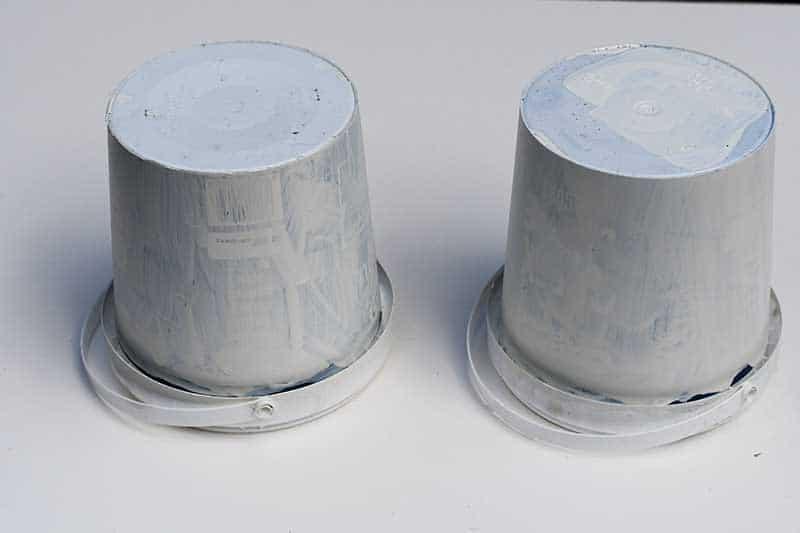 painted DIY storage tubs