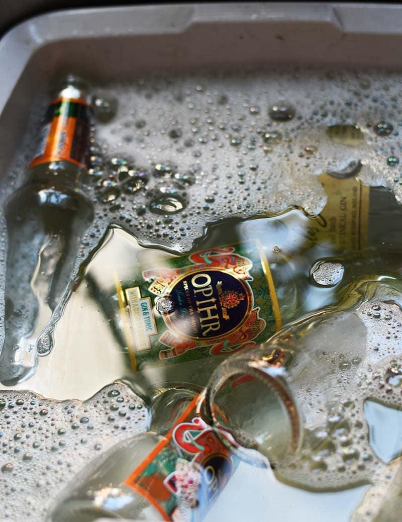 soaking labels off bottles