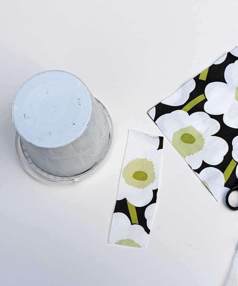 Marimekko paper napkin decoupage