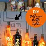 upcycled bottle halloween lights
