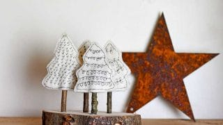 Felt christmas tree craft.