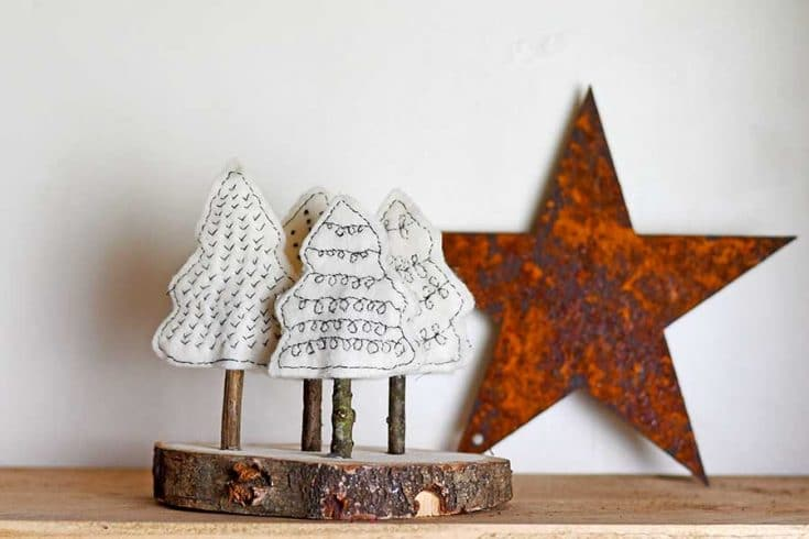 A Simple Cute Scandi Felt Christmas Craft For Your Home