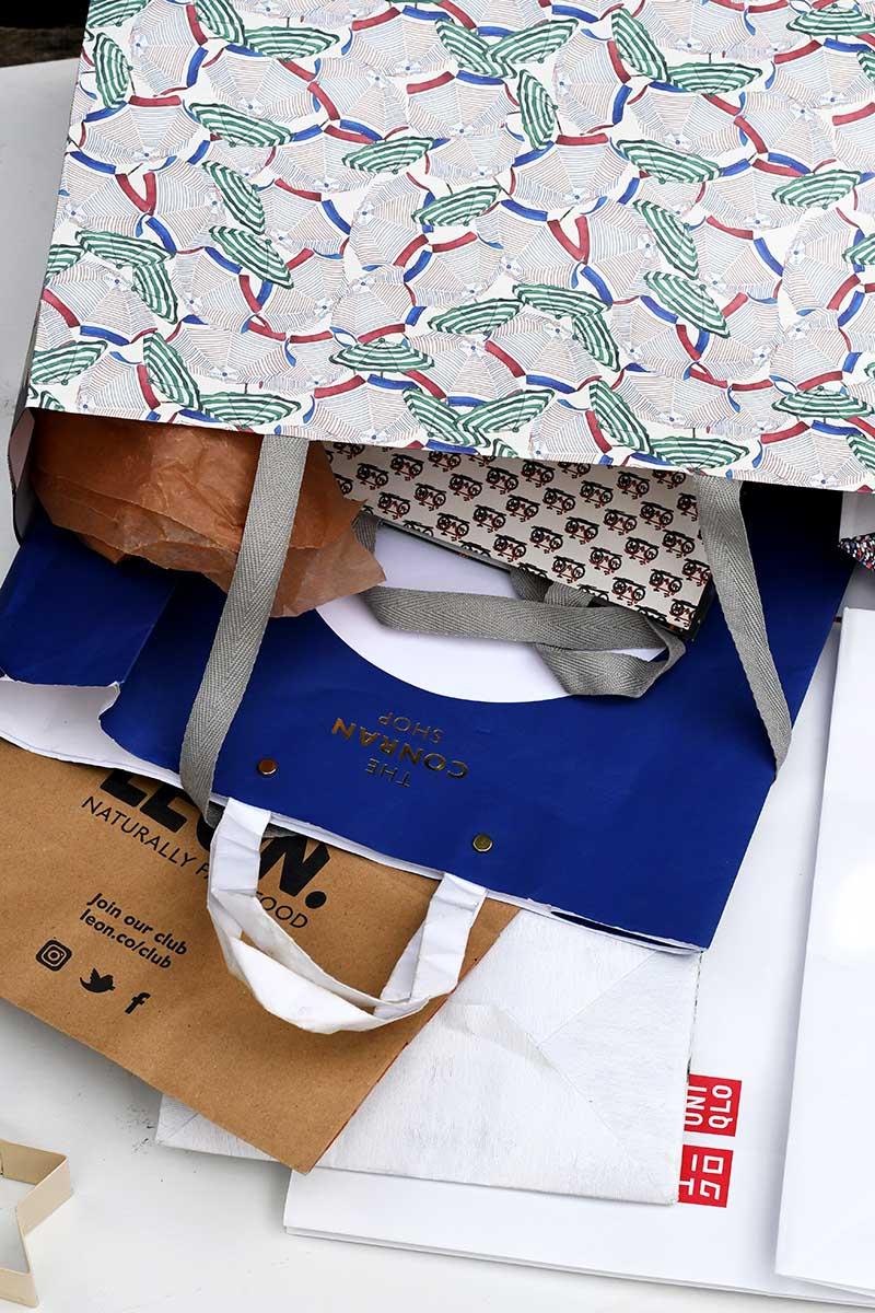 various paper bags
