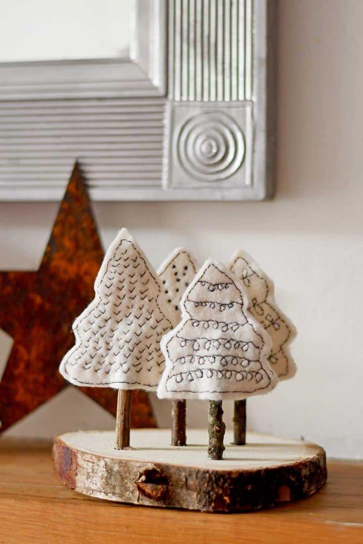 Felt Christmas Craft Scandinavian Forest