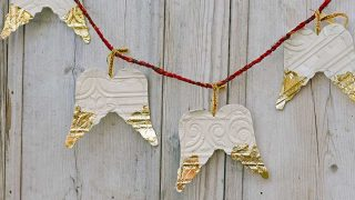 crafty angel ornament garland