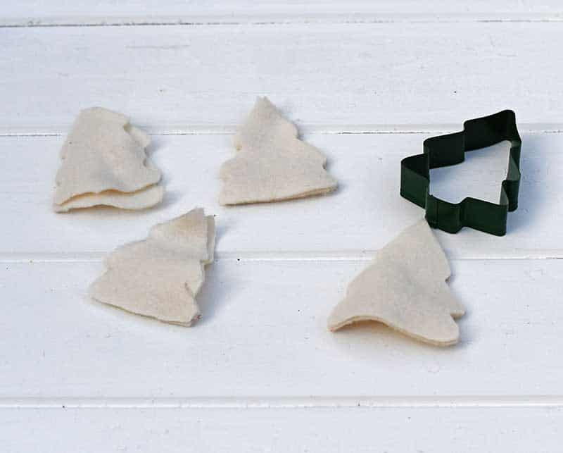 Cut out Christmas Felt craft trees