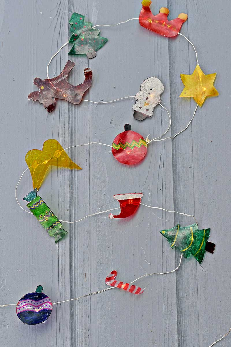 diy christmas garland with lights