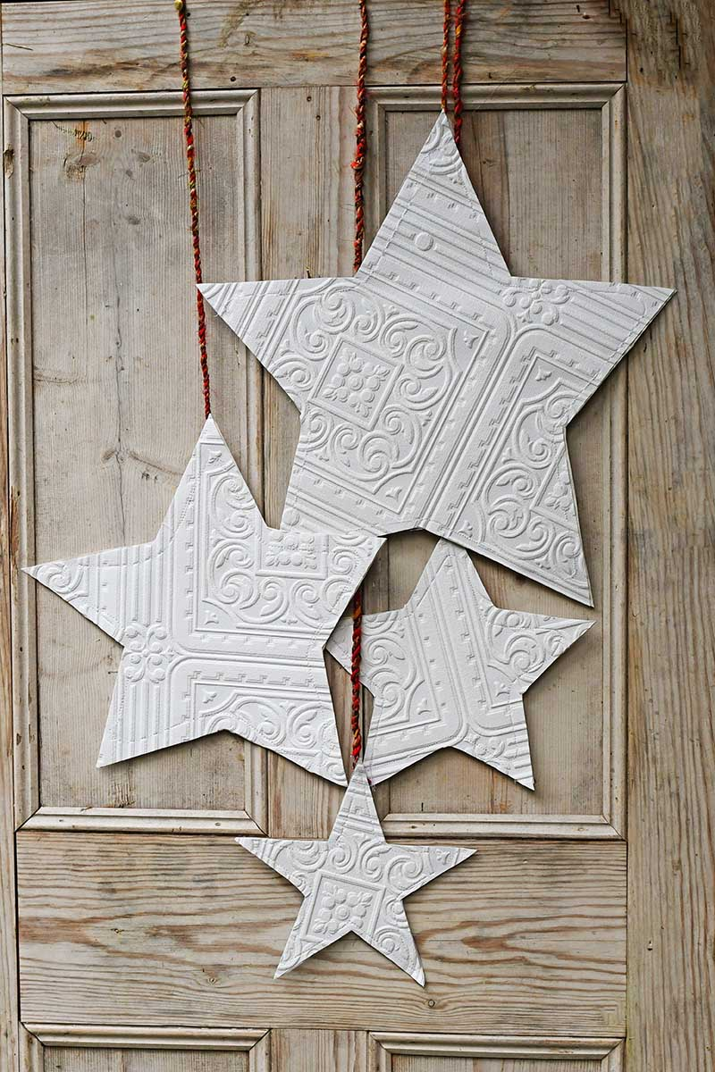 Christmas hanging wallpaper stars decoration