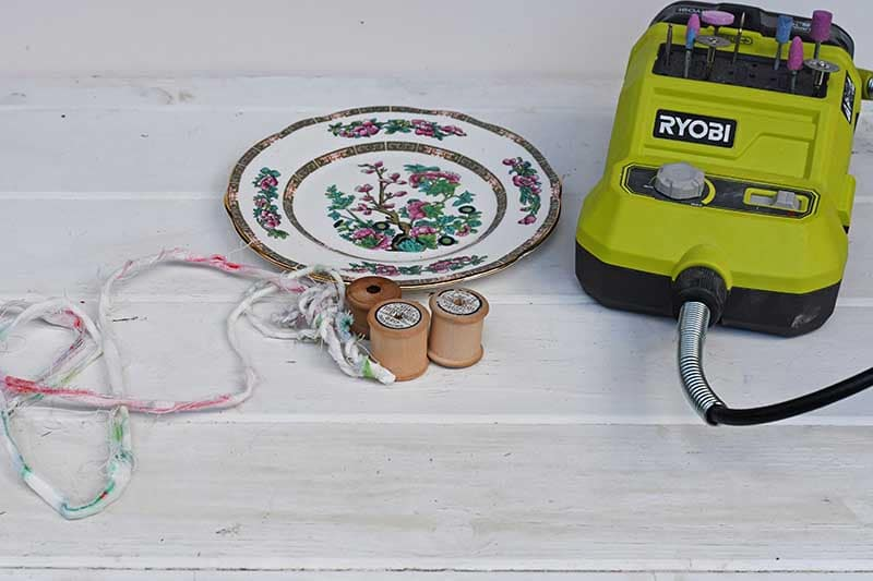 what you need to upcycle china plate