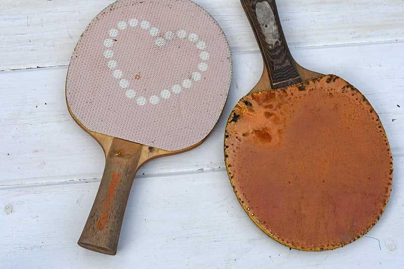 Old ping pong bats