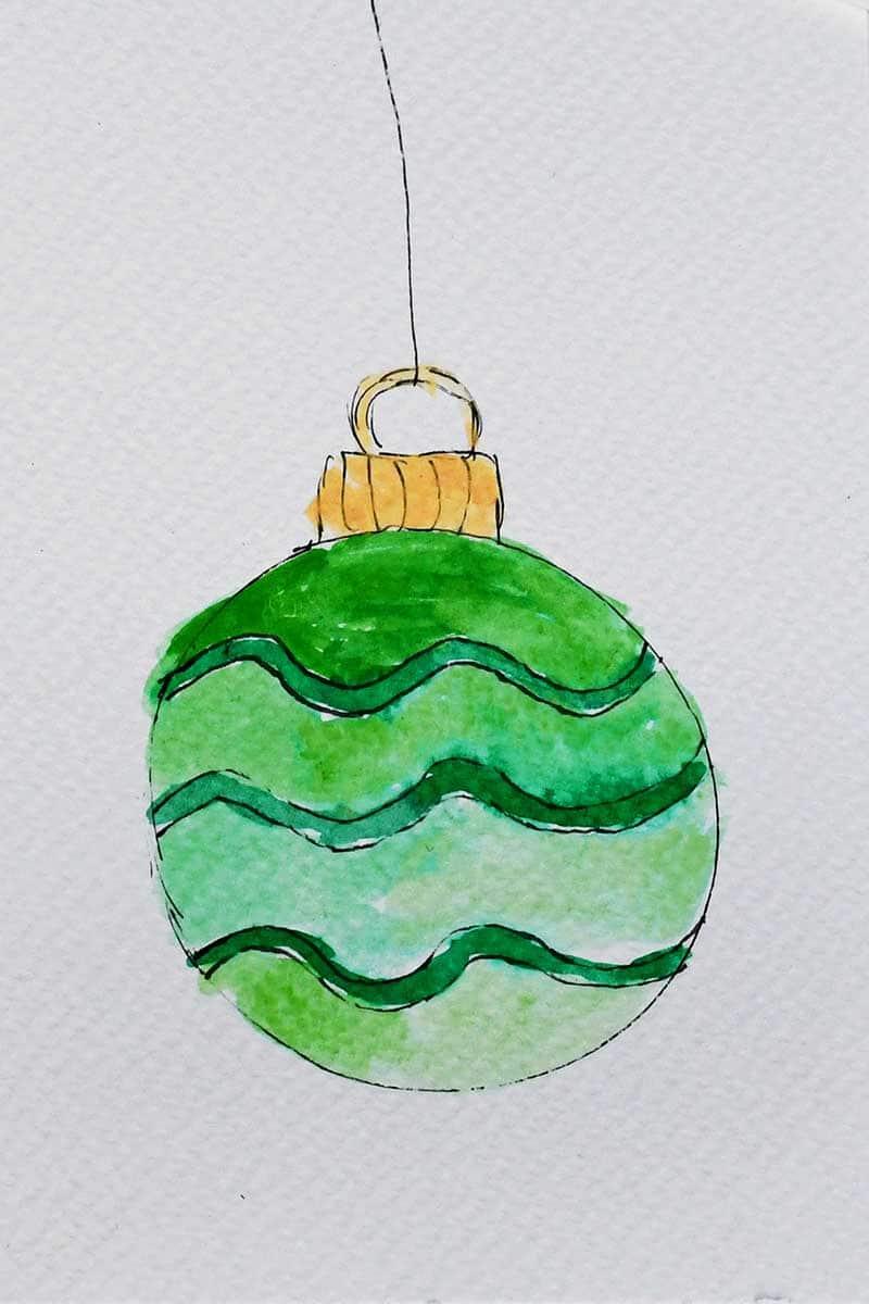 Green watercolor babule