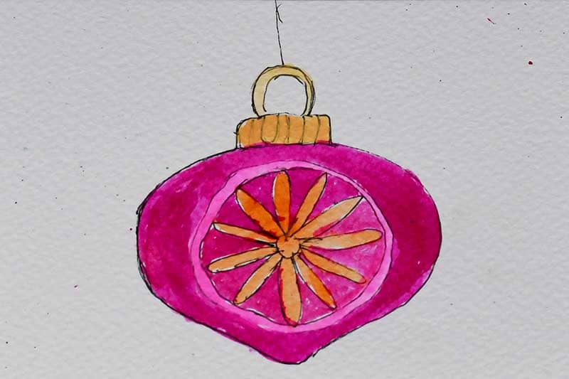 Pink watercolor babule