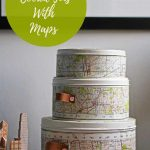 Upcycled Map Cookie tins