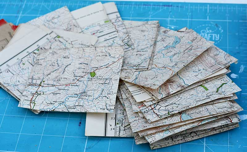 Cut up map squares