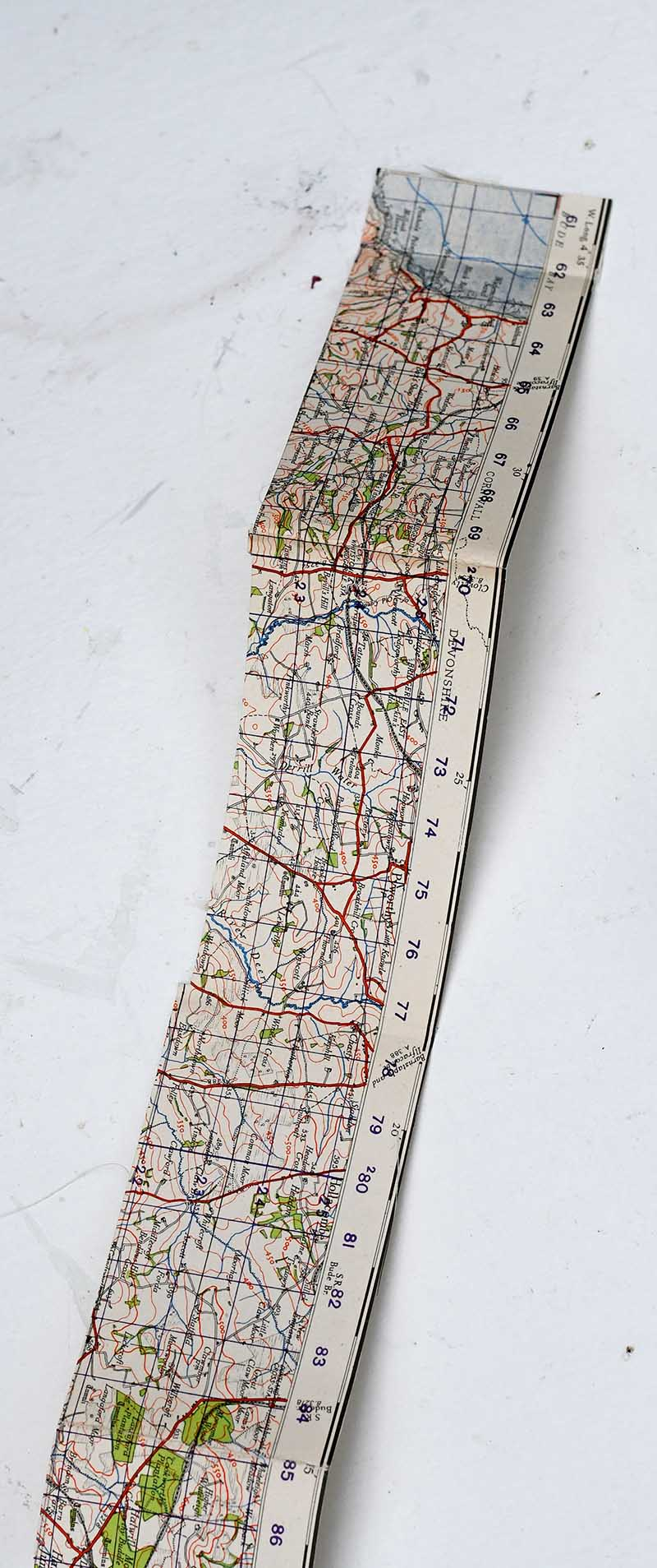 Cut map strips