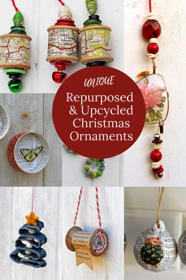 Repurposed Upcycled Christmas Ornaments