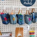 Denim hanging pocket storage