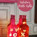 Upcycled Valenines bottle lights