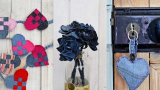 upcycled denim valentines crafts