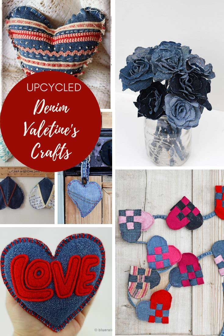 Denim valentine's crafts