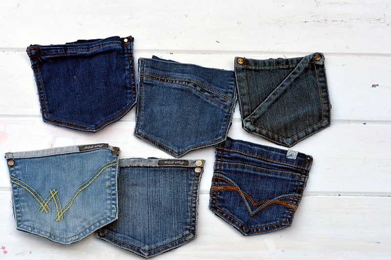 cut out denim back pockets
