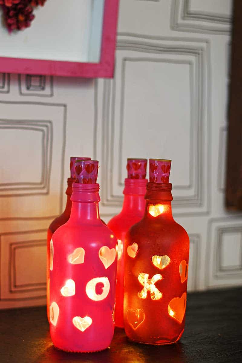 Valentine's bottle lights