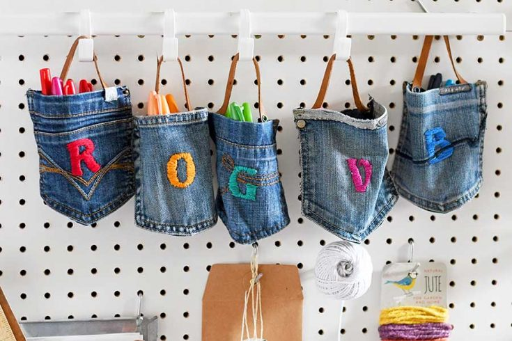 How To Make Hanging Pockets From Old Jeans