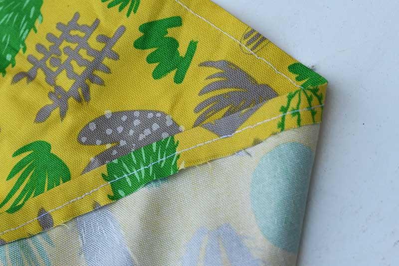 sewing hem on liner