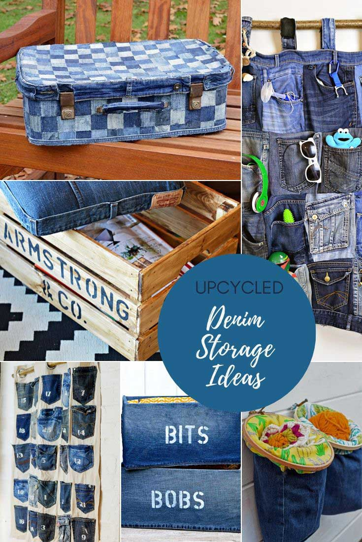 upcycled denim storage ideas