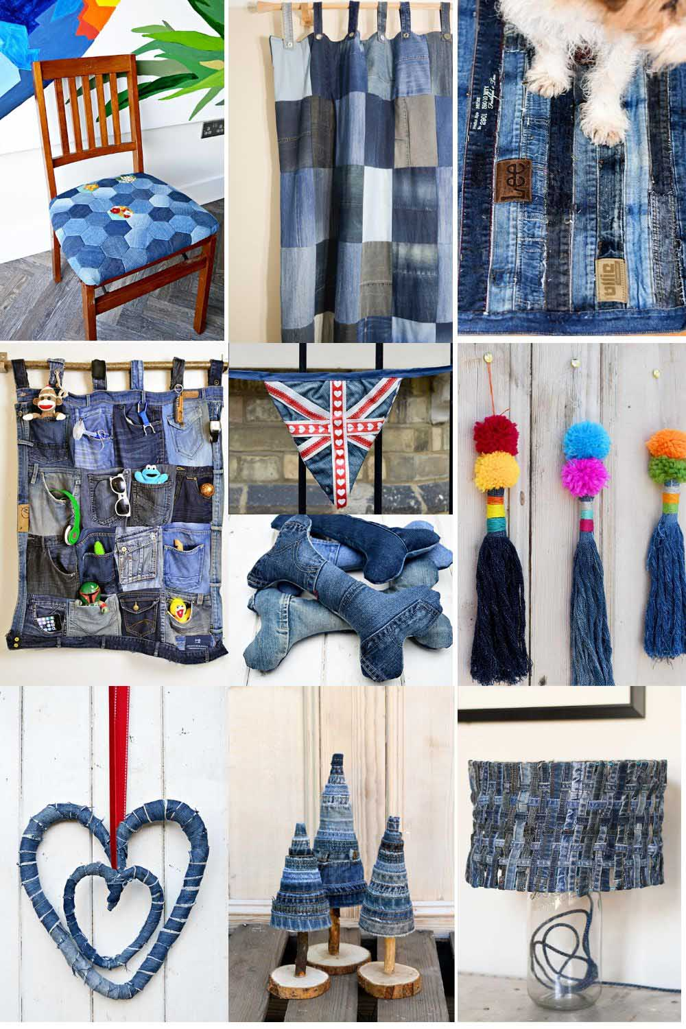 Upcycling fabrics denim