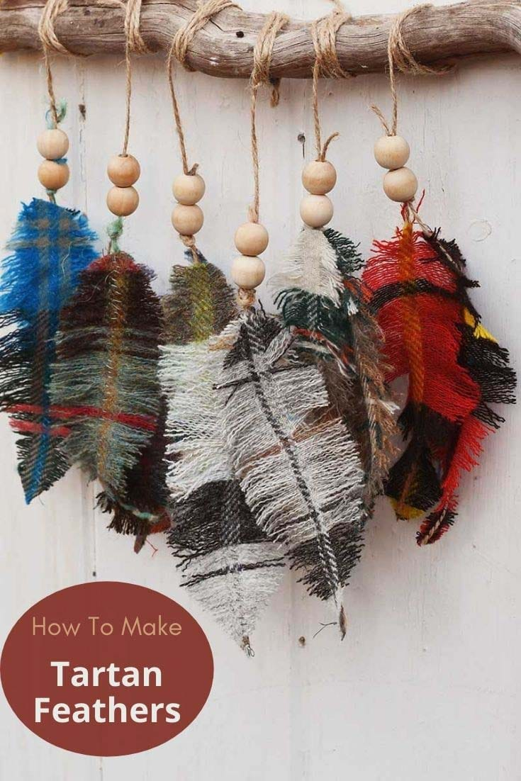 how to make tartan feathers