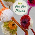 Rainbow DIY pom pom flowers