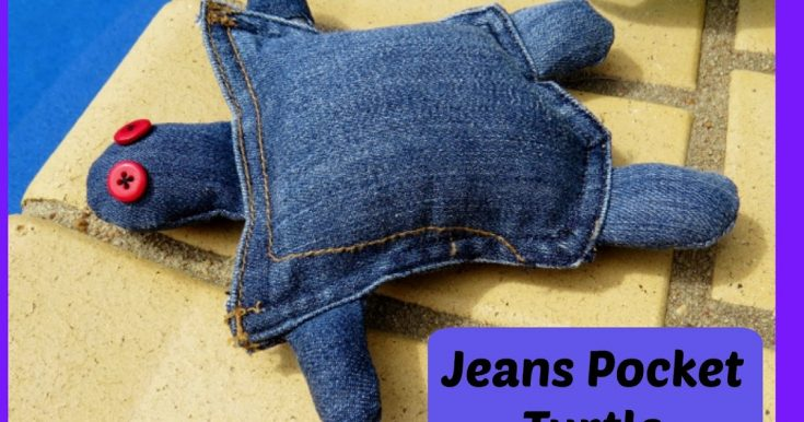 Jeans Pocket Turtle - another clothes upcycle.