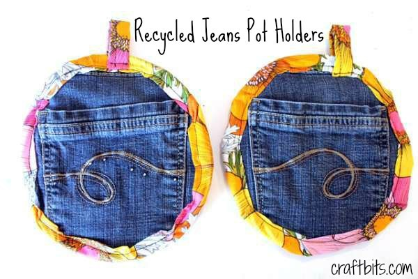 Recycled Jeans Potholders