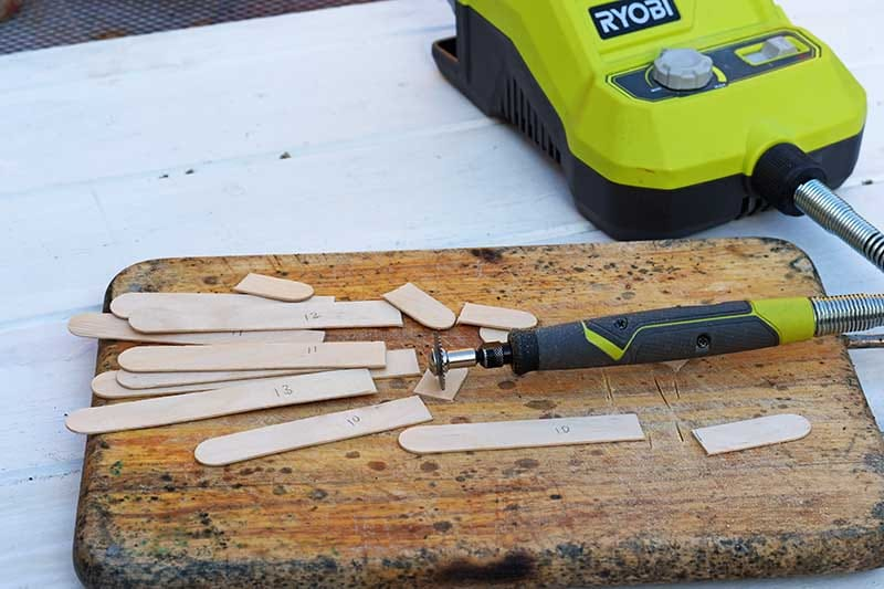 cutting craft sticks with rotary tool