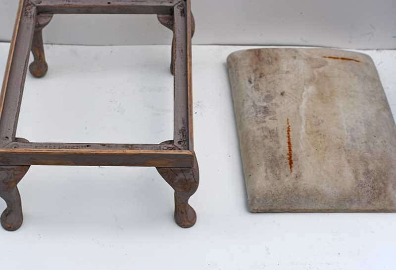 Dismantled footstool
