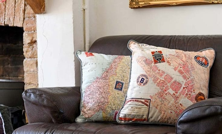 How To Design And Print A Vintage Map Pillow