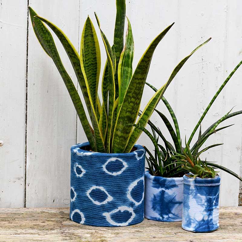 3 indigo planters