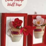 DIY wall vases with blossom
