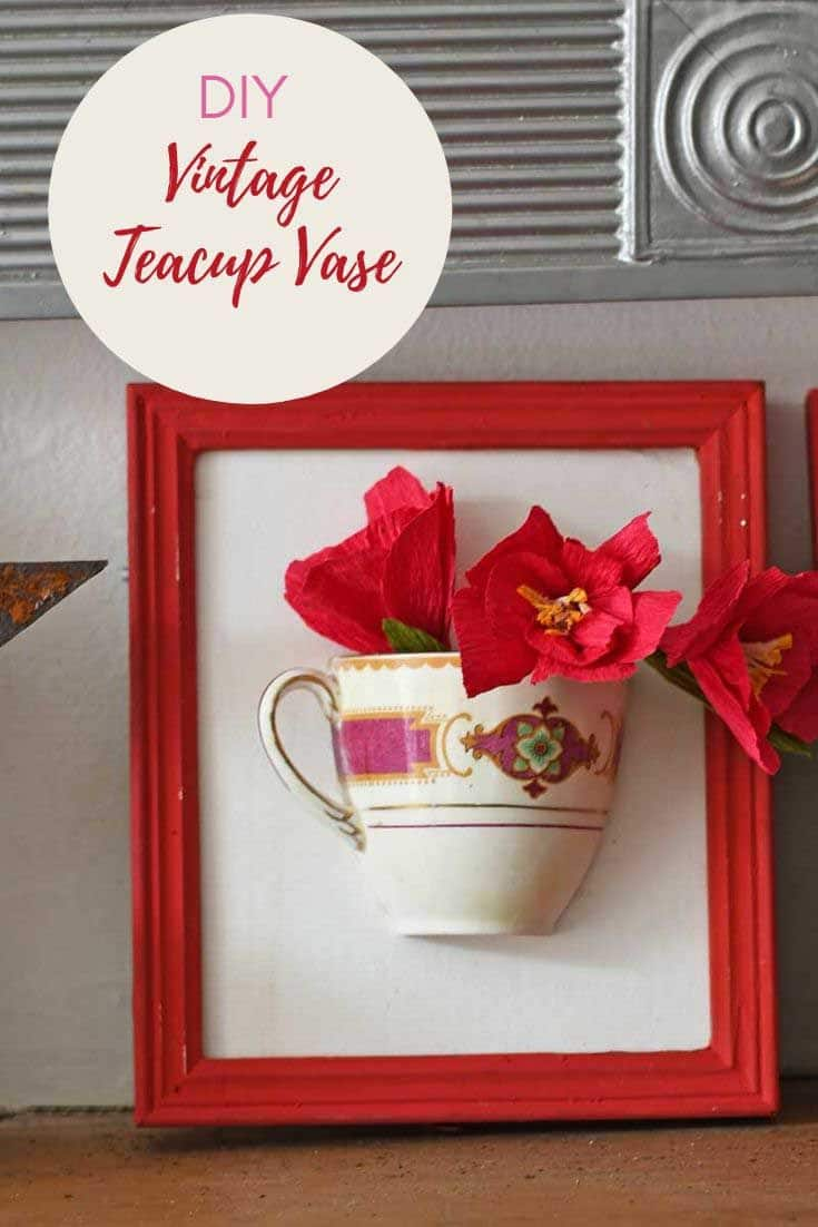 Repurposed broken China wall vase