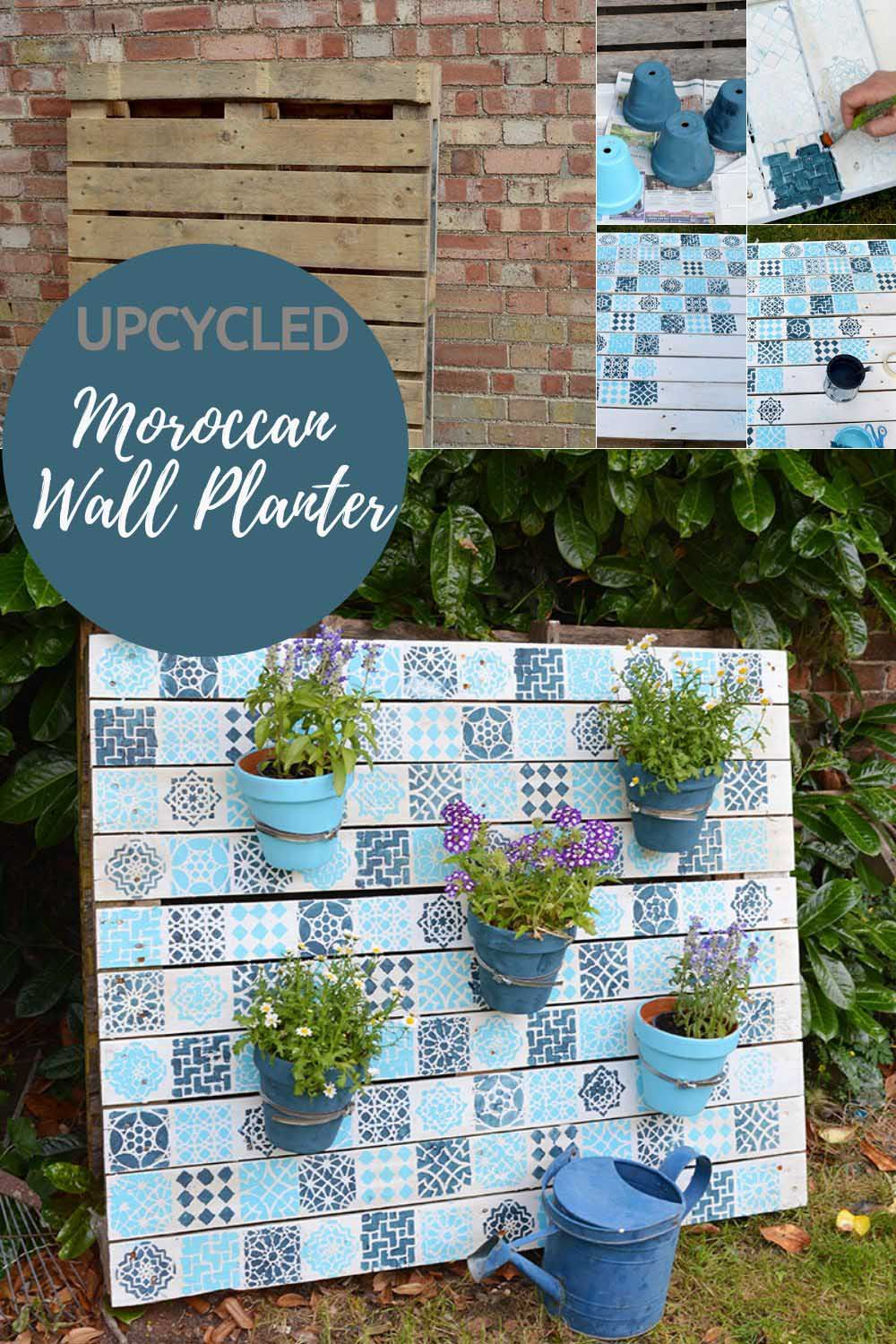 Upcycled Moroccan Pallet Planter