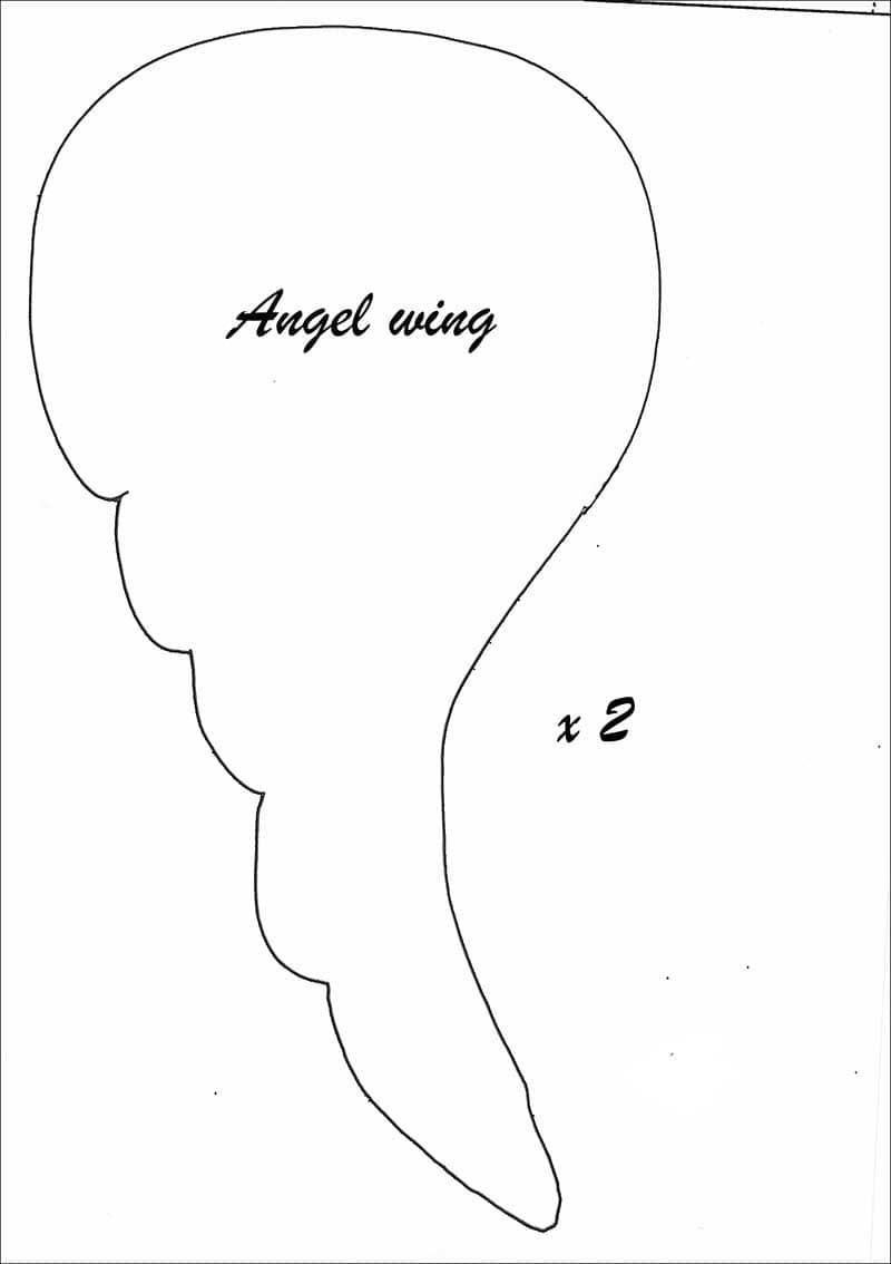 Angel wings template