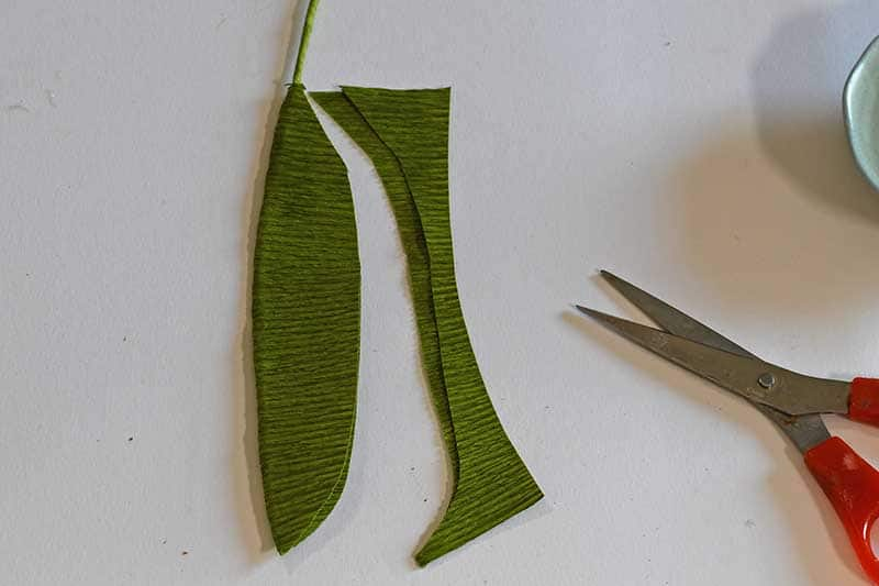 cutting the leaf shape