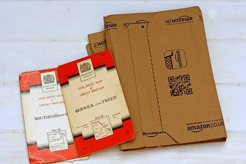 Maps and cardboard