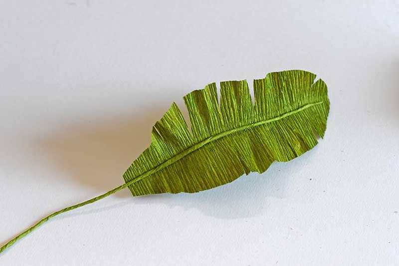 shaping the DIY tropical leaf
