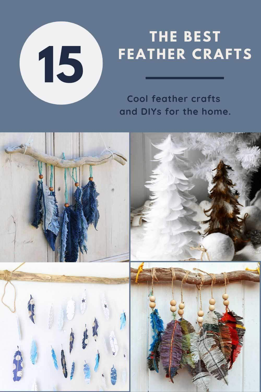 15 of the bEst feather crafts and DIYs