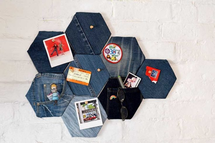 How To Make A Fabric Pin Board With Denim
